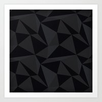 Triangular Black Art Print