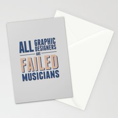 Failed musicians Stationery Cards