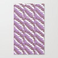 Purple Pattern Print Canvas Print