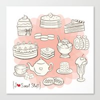 I {❤} SWEET STUFF Canvas Print