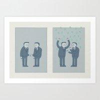 Handshake Art Print
