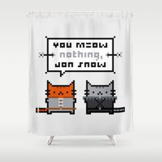 You Meow Nothing - Thrones of Game Shower Curtain