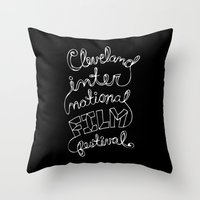 Scripted Throw Pillow