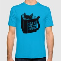 How To Train Your Human Mens Fitted Tee Teal SMALL