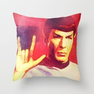 Spock Rocks Throw Pillow