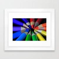 Multi Color Pencils Framed Art Print