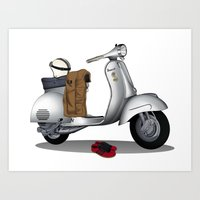 Vespa GS & Casual Stuffs Art Print
