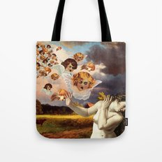 Putti Attack Tote Bag