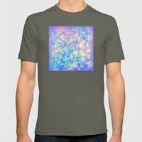 Watercolor Paisley Mens Fitted Tee Lieutenant SMALL
