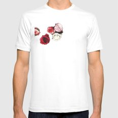 Bed Of Roses White Mens Fitted Tee SMALL