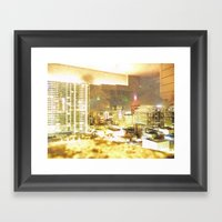 Denver Through A Dirty W… Framed Art Print