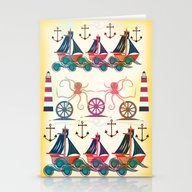 Stationery Cards featuring Sailor by Famenxt