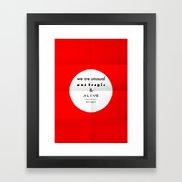Eggers - We Are Unusual … Framed Art Print