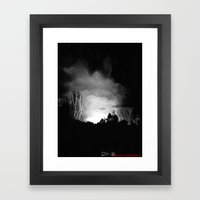 Coming Out Of The Darkness Framed Art Print