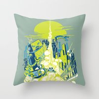 Smash! Zap!! Zooom!! - Annoying Kidd Throw Pillow
