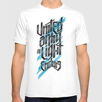 UAOL Mens Fitted Tee White SMALL