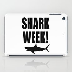 Shark week (on white) iPad Case