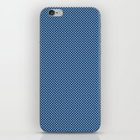 Navy Spotty Pattern Design iPhone & iPod Skin