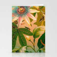 Passion Flower With Bugs Stationery Cards