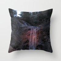 A Summer Waterfall Throw Pillow