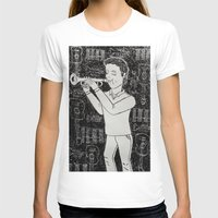 Música Womens Fitted Tee White SMALL