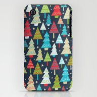 Christmas Trees iPhone (3g, 3gs) Slim Case