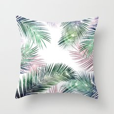 tropical leaves 2 Throw Pillow