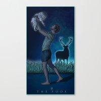 0. The Fool Canvas Print
