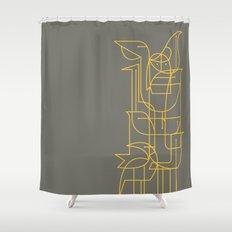 Geometric Birds Shower Curtain
