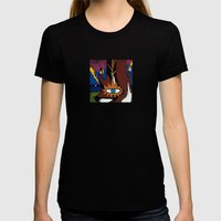 and the MAGIC BERRIES PLAYED RIGHT into FOX'S HANDS Womens Fitted Tee Black SMALL