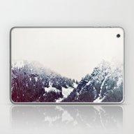 Laptop & iPad Skin featuring Vintage Snowy Mountain by Kurt Rahn