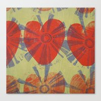 hearts on fire Canvas Print