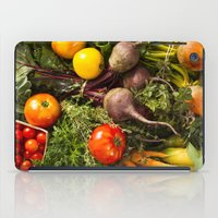 Mixed Organic Vegetables With Tomatoes Beets & Carrots iPad Case