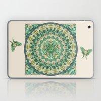 Luna Moth Meditation Mandala Laptop & iPad Skin