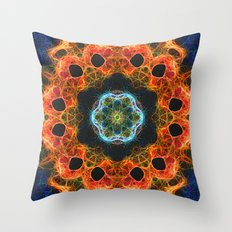 Fiery barnacles kaleidoscope 2 Throw Pillow