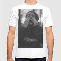 Supreme Mens Fitted Tee White SMALL