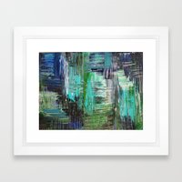 AQUATIC COMMOTION In Col… Framed Art Print