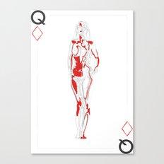 Queen of Diamonds Canvas Print