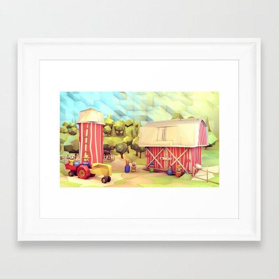 Fisher-Price Farm Framed Art Print