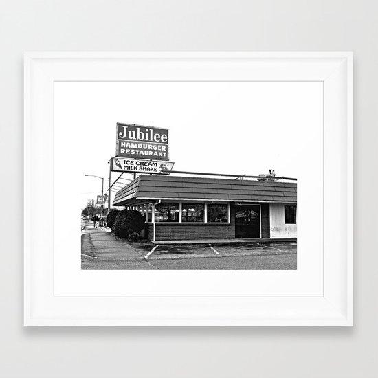 Jubilee Hamburger Restaurant Framed Art Print