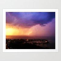 Catch Lightning. Art Print