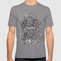 Great Love Mens Fitted Tee Tri-Grey SMALL