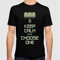 Keep Calm and Choose One Mens Fitted Tee SMALL Black