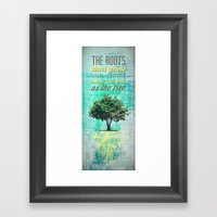 Roots of the Tree Framed Art Print