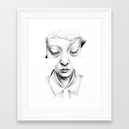 in heaven everything is fine Framed Art Print