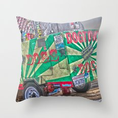 Hot Dogs on The Pier Throw Pillow