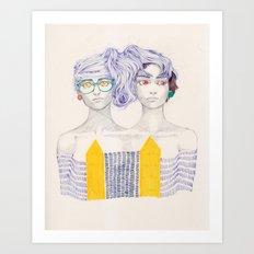 Hair Play 02 Art Print
