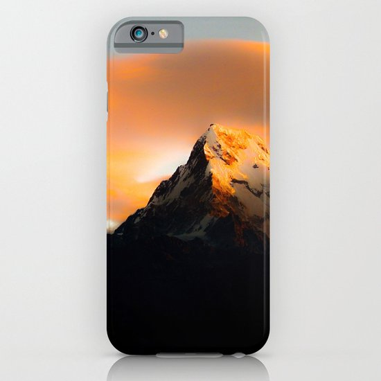 Welcoming dawn in the mountains iPhone & iPod Case