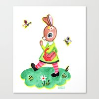 Rebecca Rabbit As Franco… Canvas Print