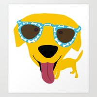 Labrador dog - Sunglasses Art Print